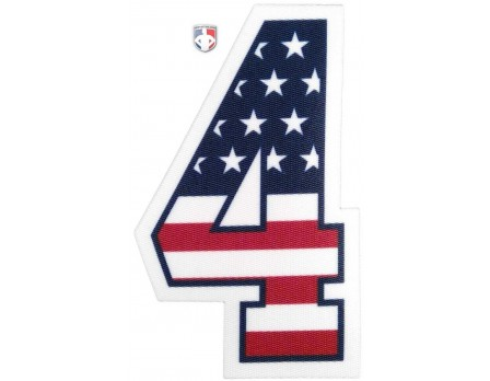 "4"" USA Stars and Stripes Precision-Cut Number"