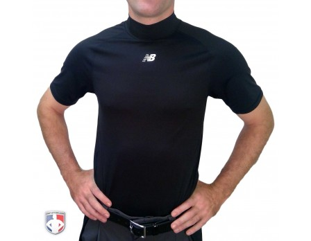 TMMT717-BK New Balance Challenger Mock Neck Short Sleeve Compression Shirt