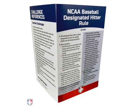 NCAA-DH NCAA Designated Hitter Rule / Challenge Reference Card Outside