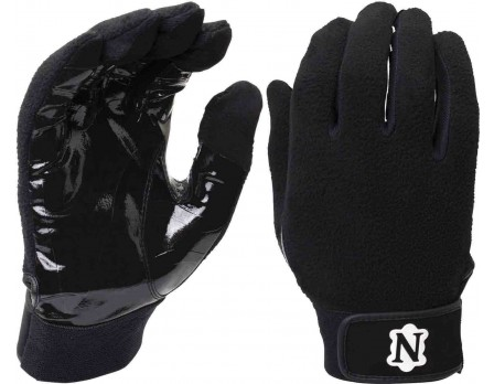 NEU-GLOVE-BK Adams Neumann All-Black Officials Gloves Pair