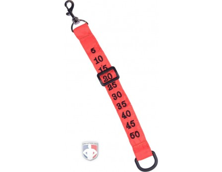 Orange Nylon Chain Clip with Plastic Yard Marker Slide