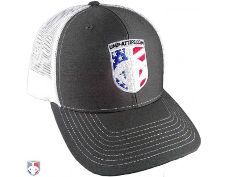 UA-TRUCK Richardson Trucker Cap with Patriotic Ump-Attire.com Logo
