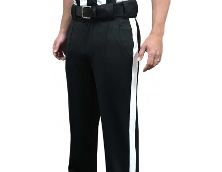 S184 Smitty Performance Poly Spandex Tapered Fit Black Football Referee Pants