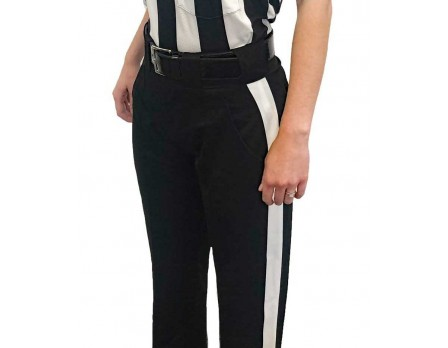 S189W Smitty Warm Weather Women's Fit Black Football Referee Pants