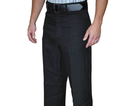 Smitty Athletic Fit Flat Front Referee Pants with Belt Loops