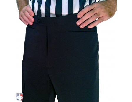 Smitty Performance 4-Way Stretch Athletic Fit Flat Front Referee Pants with Western-Cut Pockets