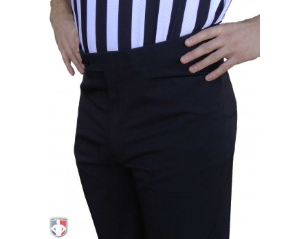 S290 Smitty NBA Style 4-Way Stretch Flat Front Premium Referee Pants - Tapered Fit with Western-Cut Pockets
