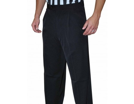 S291 Smitty NBA Style 4-Way-Stretch Premium Referee Pants - Pleated Tapered Fit with Slash Pockets