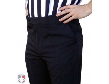 S297-NBA Smitty NBA Style 4-Way Stretch Flat Front Premium Referee Pants - Tapered Fit with Slash Pockets