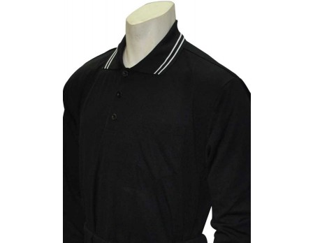 S30LS-BK Smitty Traditional Long Sleeve Black Umpire Shirt Front View