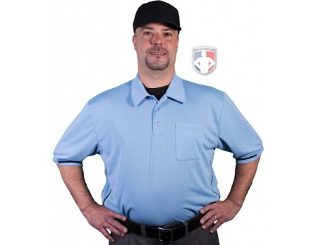Smitty Major League Style Self-Collared Umpire Shirt - Polo Blue