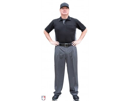S391-Smitty Performance Poly Spandex Charcoal Grey Combo Umpire Pants