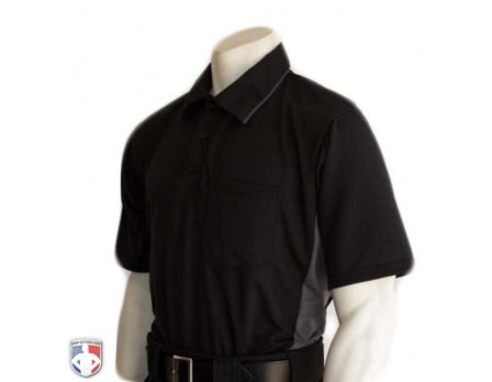 Smitty Major League Replica Umpire Shirt - Black with Charcoal Grey
