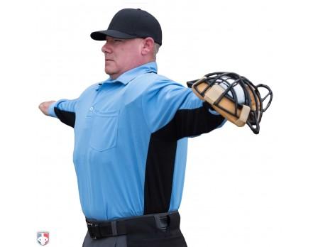 S313-PB-Smitty Major League Replica Long Sleeve Umpire Shirt - Sky Blue with 179f3d8f8de7