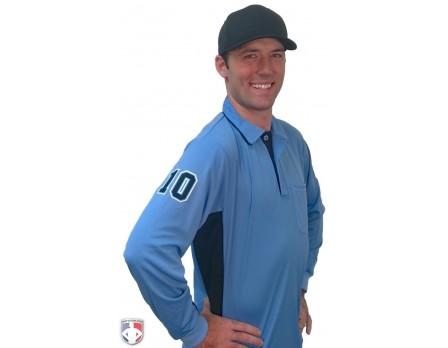 Current Major League Replica Umpire Shirt SKY BLUE with BLACK