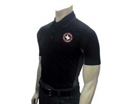 NJCAA-XIV-314-BK NJCAA Region IXV Umpire Shirt - Black with Charcoal Grey