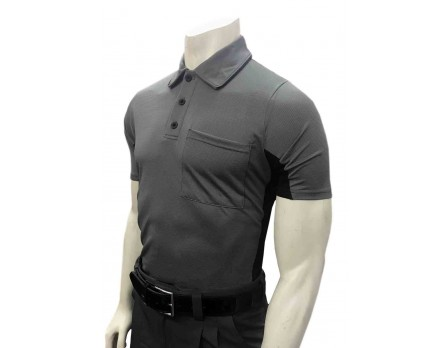 S314-CH Smitty V2 Major League Replica Umpire Shirt - Charcoal Grey with Black