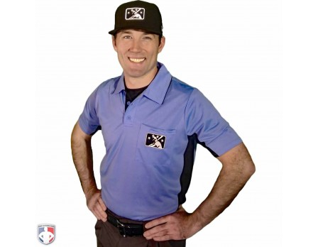 MiLB Smitty Umpire Shirt - Sky Blue with Black