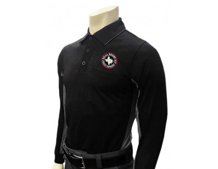 NJCAA Region XIV Smitty Long Sleeve Umpire Shirt - Black with Charcoal Grey