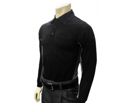 Smitty V2 Major League Replica Long Sleeve Umpire Shirt - Black with Charcoal Grey
