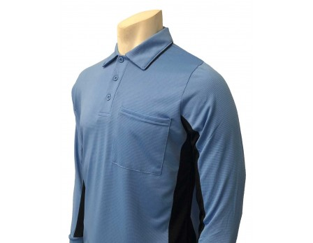 Smitty V2 Major League Replica Long Sleeve Umpire Shirt - Sky Blue with Black
