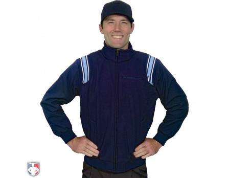 S330-N/PB Smitty Major League Style Fleece Lined Umpire Jacket - Navy and Polo Blue Front View