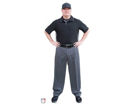 S395X Smitty Performance Poly Spandex Expander Waist Charcoal Grey Umpire Combo Pants
