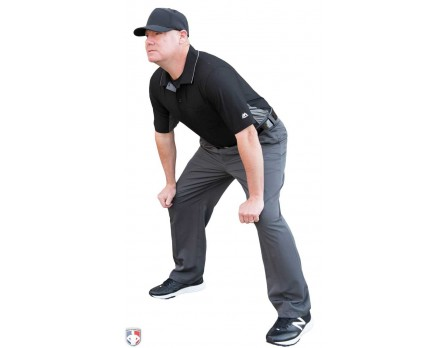 S390-Smitty Performance Poly Spandex Charcoal Grey Base Umpire Pants Stance 91d2cac2caaa