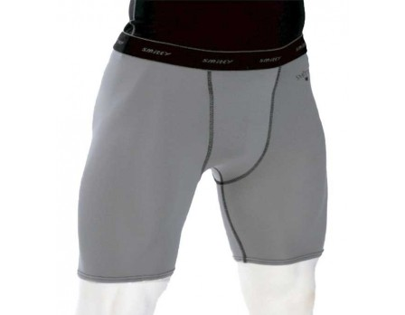 S415 Smitty Grey ComfortTech Compression Shorts with Cup Pocket