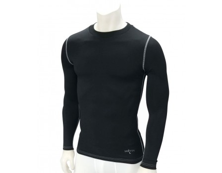 Smitty Long Sleeve Black Compression Shirt