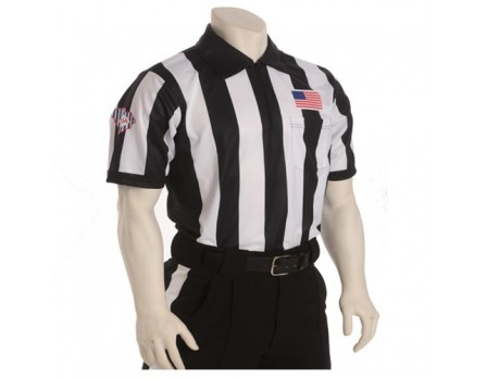 "South Carolina (SCFOA) 2 1/4"" Stripe Body Flex Short Sleeve Football Referee Shirt"