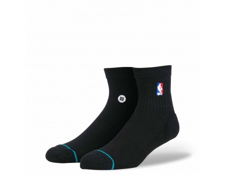 Stance NBA Logoman Quarter Socks - Black