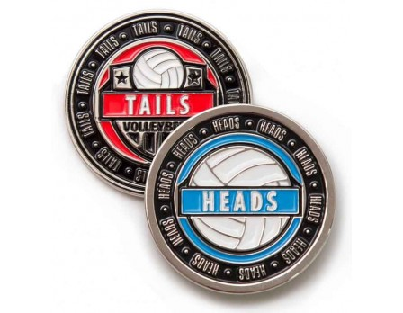TSFLIPCOIN Tandem Volleyball Referee Flip Coin Front & Back