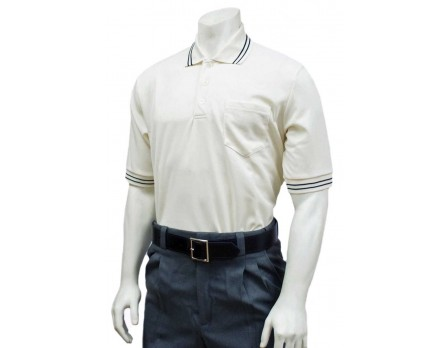 U126-C Smitty Pro Knit Umpire Shirt - Cream Front View