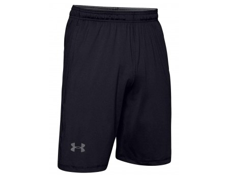 "UA-RAID-BK Under Armour Raid 10"" Black Referee Shorts Front View"