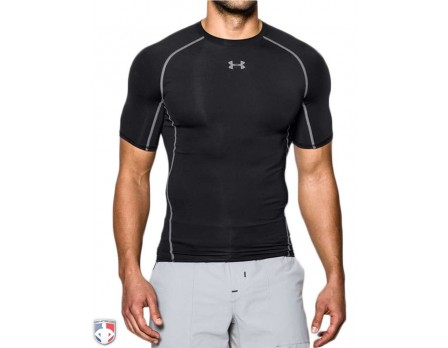 UAHG-SS-Under Armour HeatGear Umpire / Referee Armour Compression Shirt - Short Sleeve