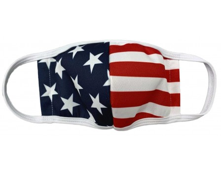 USA-MASK-SNS Reusable Cloth Mask by Smitty Stars & Stripes