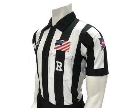 "Smitty CFO College 2"" ""Body Flex"" Short Sleeve Football Referee Shirt"