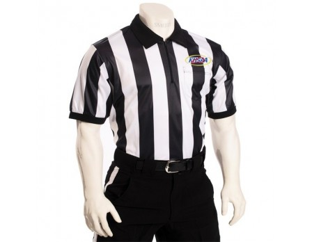 "Kentucky (KHSAA) 2"" Stripe Dye Sublimated Short Sleeve Football Referee Shirt"