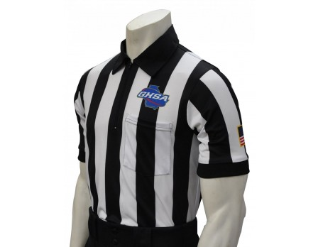 "Georgia (GHSA) 2"" Stripe Body Flex Short Sleeve Referee Shirt"