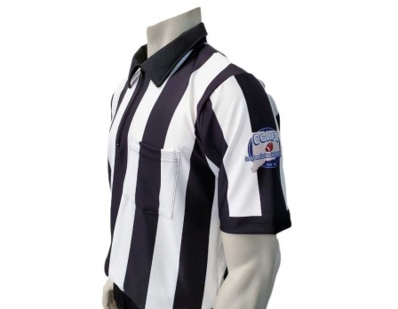 "USA137CCT Central Connecticut (CCAFO) 2 1/4"" Stripe Short Sleeve Football Referee Shirt"