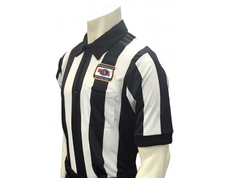 "USA137NE Nebraska (NSAA) 2 1/4"" Stripe Short Sleeve Football Referee Shirt"