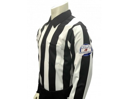"Central Connecticut (CCAFO) 2 1/4"" Stripe Long Sleeve Football Referee Shirt"