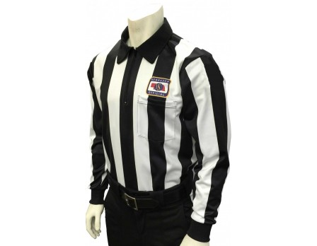 "USA730NE Nebraska (NSAA) 2 1/4"" Stripe Foul Weather Football Referee Shirt"