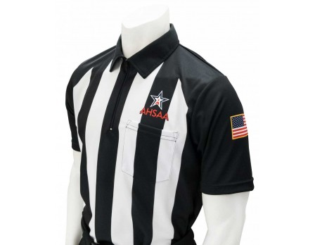 "USA151AL-FLEX Alabama (AHSAA) 2 1/4"" Stripe Body Flex Short Sleeve Football Referee Shirt"