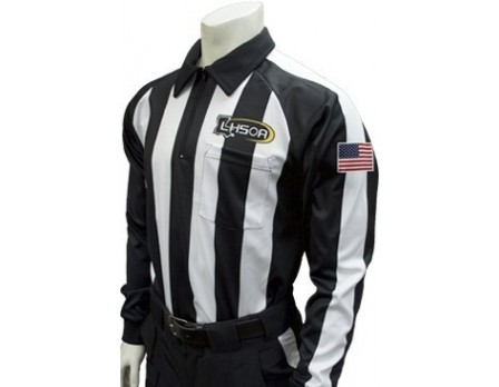 "USA730LA Louisiana (LHSOA) 2 1/4"" Stripe Foul Weather Football Referee Shirt"