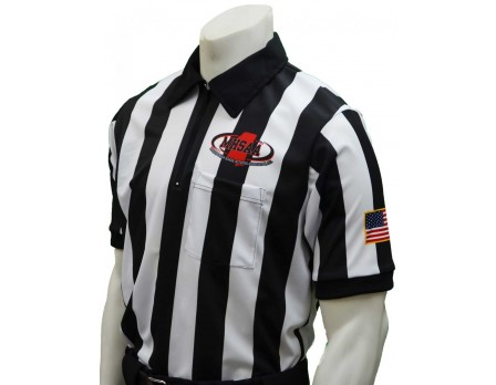 "USA180MS Mississippi (MHSAA) 2"" Stripe Short Sleeve Football Referee Shirt"