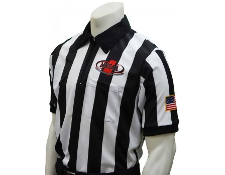 "USA180MS-FLEX Mississippi (MHSAA) 2"" Stripe Body Flex Short Sleeve Football Referee Shirt"