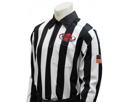"USA181MS Mississippi (MHSAA) 2"" Stripe Long Sleeve Football Referee Shirt"