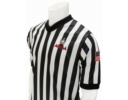 "USA200AL Alabama AHSAA 1"" Stripe V-Neck Men's Referee Shirt"